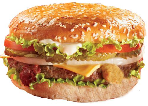 Бургер с курицей сыром и помидорами