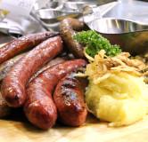 Домашние колбасы ассорти (свиная, куриная, кровянка)